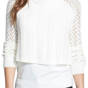Vince Camuto Cable Cowl Neck Sweater